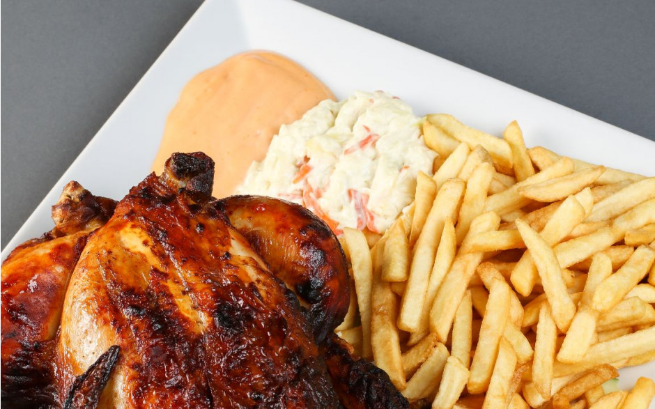 25. Whole chicken with fries