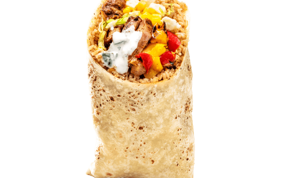 Chicken-Feta Burrito